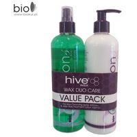 Zestaw promocyjny wax duo care - lotion przed-depilacyjny 400 ml + balsam po-depilacyjny 400 ml marki B&m