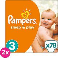 2x PAMPERS Sleep&Play 3 MIDI 78 szt. (4-9 kg) JUMBO PACK – pieluszki jednorazowe, towar z kategorii: Pieluch