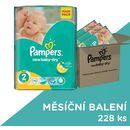 Pampers New Baby Pieluchy rozmiar 2 Mini 228 sztuk zapas na miesiąc (8001090441164)