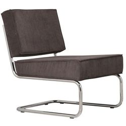 Zuiver Krzesło Lounge RIDGE RIB szare 3100009