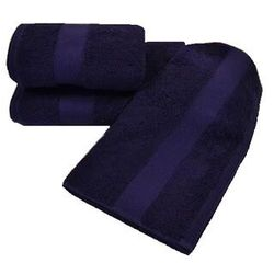 Luksusowy mały ręcznik deluxe 32x50cm z modalu ciemnoniebieski (śliwka) marki Soft cotton