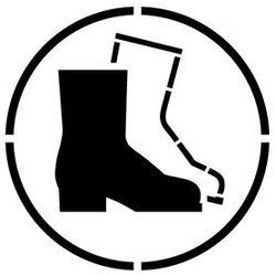 Szablon do malowania znak nakaz stosowania ochrony stóp go008 - 85x85 cm marki Szabloneria
