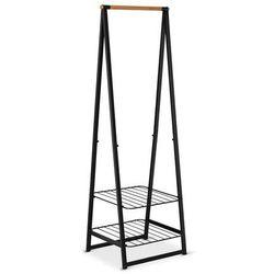 Brabantia - wieszak na ubrania z półkami, 60,00 cm, czarny - czarny (8710755118203)