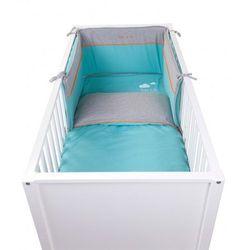 Ochraniacz do łóżeczka 35x180 jersey pool blue, CCBPJPB