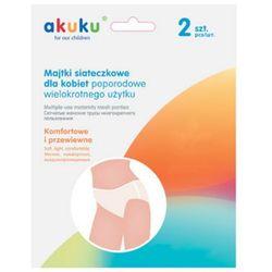 a0234 2szt l wielorazowe majtki poporodowe siateczkowe | darmowa dostawa od 200 zł wyprodukowany przez Akuku
