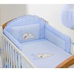 MAMO-TATO pościel 2-el Śpiący miś w błękicie do łóżeczka 70x140cm z kategorii Komplety pościeli dla dzieci