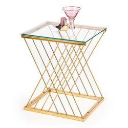 Producent: elior Szklany stolik kawowy meridan - złoty