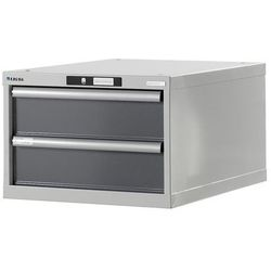 Stół warsztatowy w systemie modułowym, szafka dolna, wys. 383 mm, 2 szuflady, sz marki Lista
