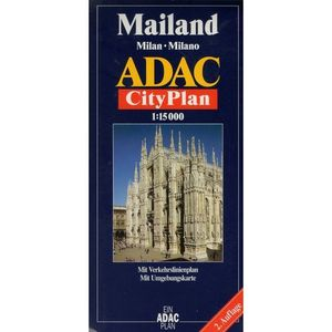 Mailand. Milan. Milano. ADAC CityPlan 1:15 000, ADAC