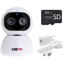 Lv-ip29ptz z microsd 64gb kamera ptz ip fullhd wifi niania elektroniczna bezprzewodowa 2mpx ir 10m marki Keeyo