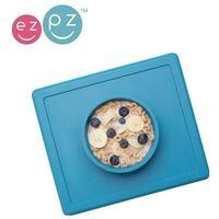 silikonowa miseczka z podkładką 2w1 happy bowl - niebieska marki Ezpz