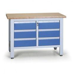 Stół warsztatowy EXPERT, 6 szuflad