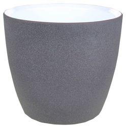 Cermax Osłonka doniczki 17 cm ciemny grafit struktura (4013738055941)