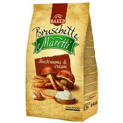 BRUSCHETTE MARETTI 70g Chrupki chlebowe z grzybami w śmietanie | DARMOWA DOSTAWA OD 200 ZŁ z kategorii Piecz