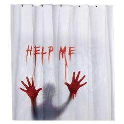 Zasłona prysznicowa Help me 180 cm - 1 szt., #A1030