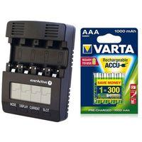 Ładowarka  nc-3000 + 4 x akumulatorki varta pro r2u r03 aaa 1000mah od producenta Everactive