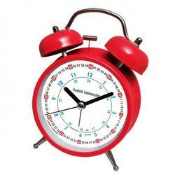 Super cichy budzik metalowy z dzwonkami #do nauki R, ATB045RED