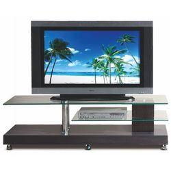 Stolik na kółkach pod telewizor ventis - wenge marki Profeos.eu