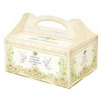 Ozdobne pudełko na ciasto weselne - 1 szt. marki Dp
