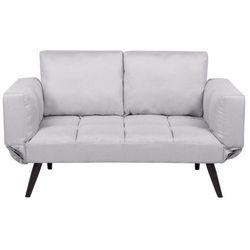Sofa rozkładana tapicerowana jasnoszara BREKKE, kolor szary