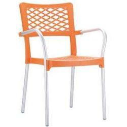 Krzesło ogrodowe z tworzywa Bella pomarańczowe