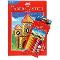 Kredki ołówkowe 24kol + kolorowanki PixelIt Faber Castell 201436, FC6957