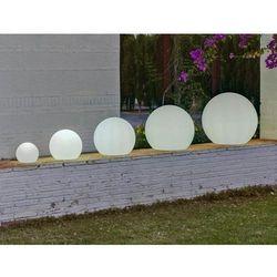 lampa ogrodowa buly 40 biała - led marki New garden