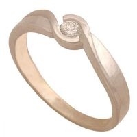 Nie Złoty pierścionek z brylantem 32653, kategoria: pierścionki i obrączki