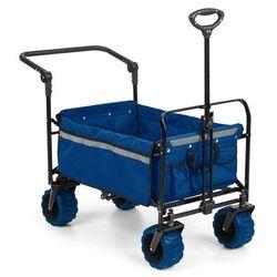 Waldbeck easy rider ręczny wózek transportowy do 70 kg drążek teleskopowy składany kolor niebieski (4060656102400)