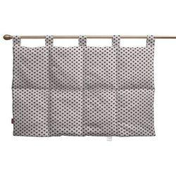 wezgłowie na szelkach, bordowe serduszka na białym tle, 90 x 67 cm, nordic do -30% marki Dekoria
