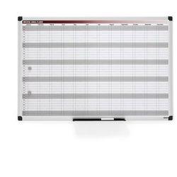 Tablica planu rocznego magnetyczna 900x600 mm, 142431