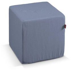 Dekoria  pufa kostka twarda, niebiesko-szary, 40x40x40 cm, venice