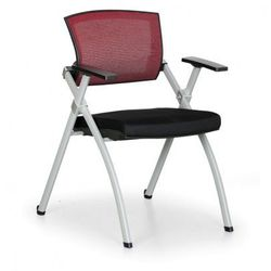 Krzesło konferencyjne Rest, czerwone