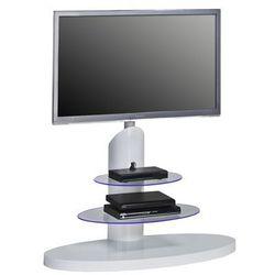 Stojak, wieszak, stolik na telewizor biały, szkło 16369956 marki Maja-möbel