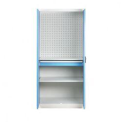 Szafa warsztatowa z perforowaną ścianką tylną, 2 półki, 1 szuflada marki B2b partner