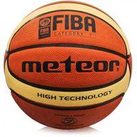 Piłka koszowa Meteor Treningowa brązowo-kremowa 7 FIBA