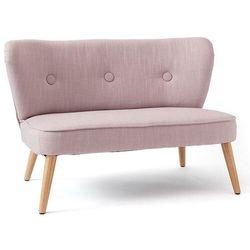 Kids concept Sofa dla dzieci liliowa na drewnianych nogach