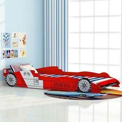 Łóżko dziecięce w kształcie samochodu, 90x200 cm, czerwone