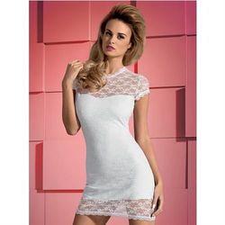 Dressita sukienka i stringi białe L/XL z kategorii Pozostała bielizna erotyczna