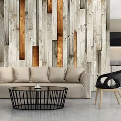 Artgeist Fototapeta - drewniany motyw