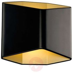 SLV Cariso kinkiet LED czarny/mosiężny 16,4 cm