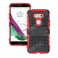 Pancerne etui Kickstand LG G5 H850 czerwone - Czerwony - sprawdź w wybranym sklepie