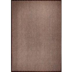Brązowy nowoczesny połyskujący dywan Laccetti Rugiada