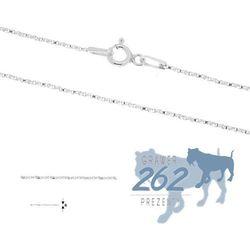 Łańcuszek Kostka Kręcona Srebro 925 50cm 1,7g - produkt z kategorii- Prezenty na Dzień Matki