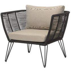 Bloomingville Fotel ogrodowy, czarny, metal - (5711173189441)