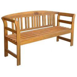 Drewniana ławka ogrodowa Nuln - brązowa