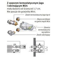 Zestaw zaworowy do podłączeń grzejników Low H2O (głowica biała JW) - podłączenie za obudową grzejnika