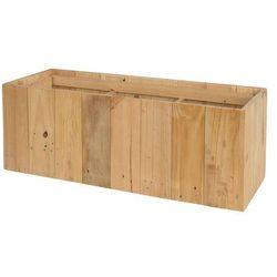 Beliani Doniczka drewniana prostokątna 66 x 24 x 24 cm trikala