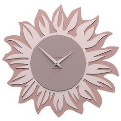 Calleadesign Zegar ścienny sunflower  szara śliwka