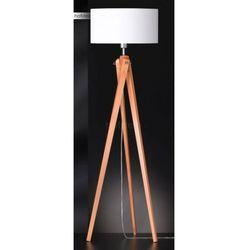 Honsel gin lampa stojąca chrom, jasne drewno, 1-punktowy marki Oświetlenie honsel